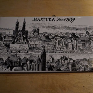 Old tile of Basel Switzerland EUC